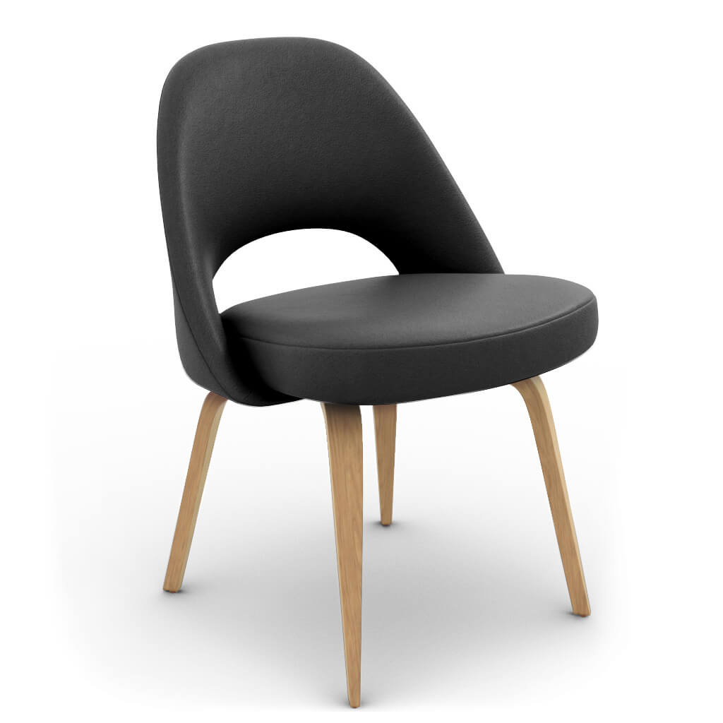 Side Chair Wood Black Ash photo