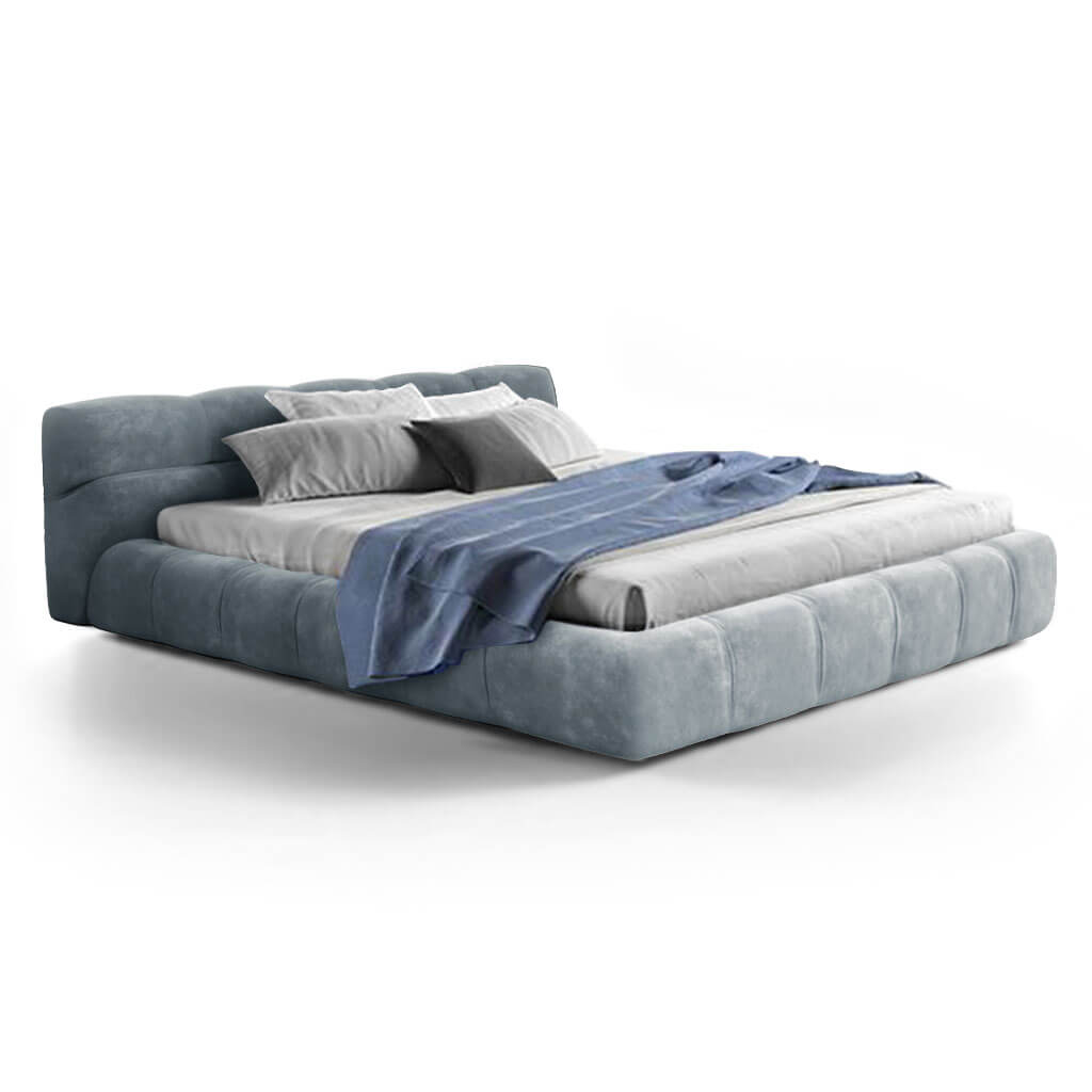Tuftytime Bed - Chenille Helios-Cerulean Blue / California King Size