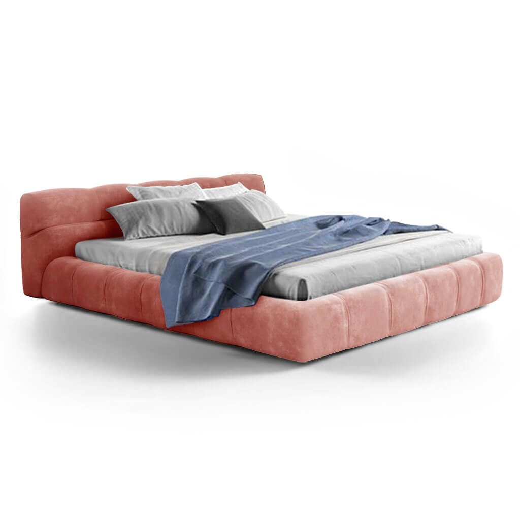 Tuftytime Bed - Chenille Helios-Dusty Rose / California King Size