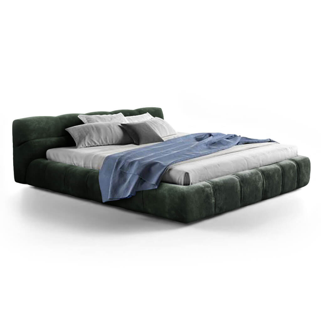 Tuftytime Bed - Chenille Helios-Evergreen / California King Size
