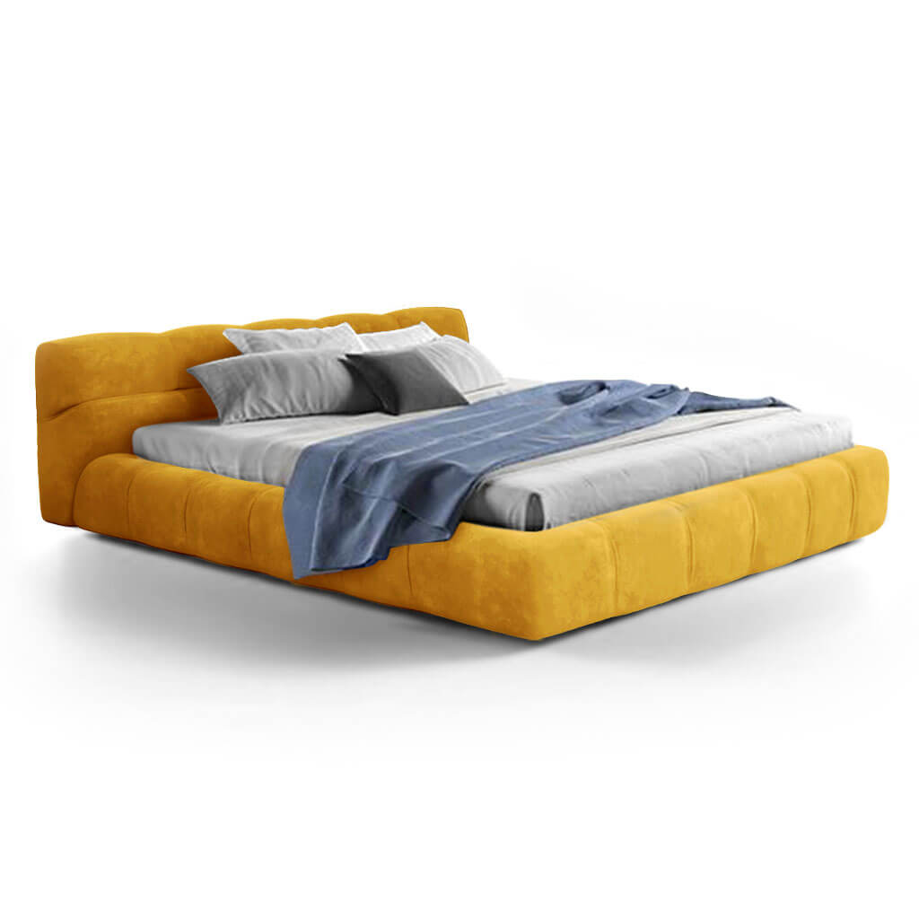 Tuftytime Bed - Chenille Helios-Mustard Yellow / California King Size