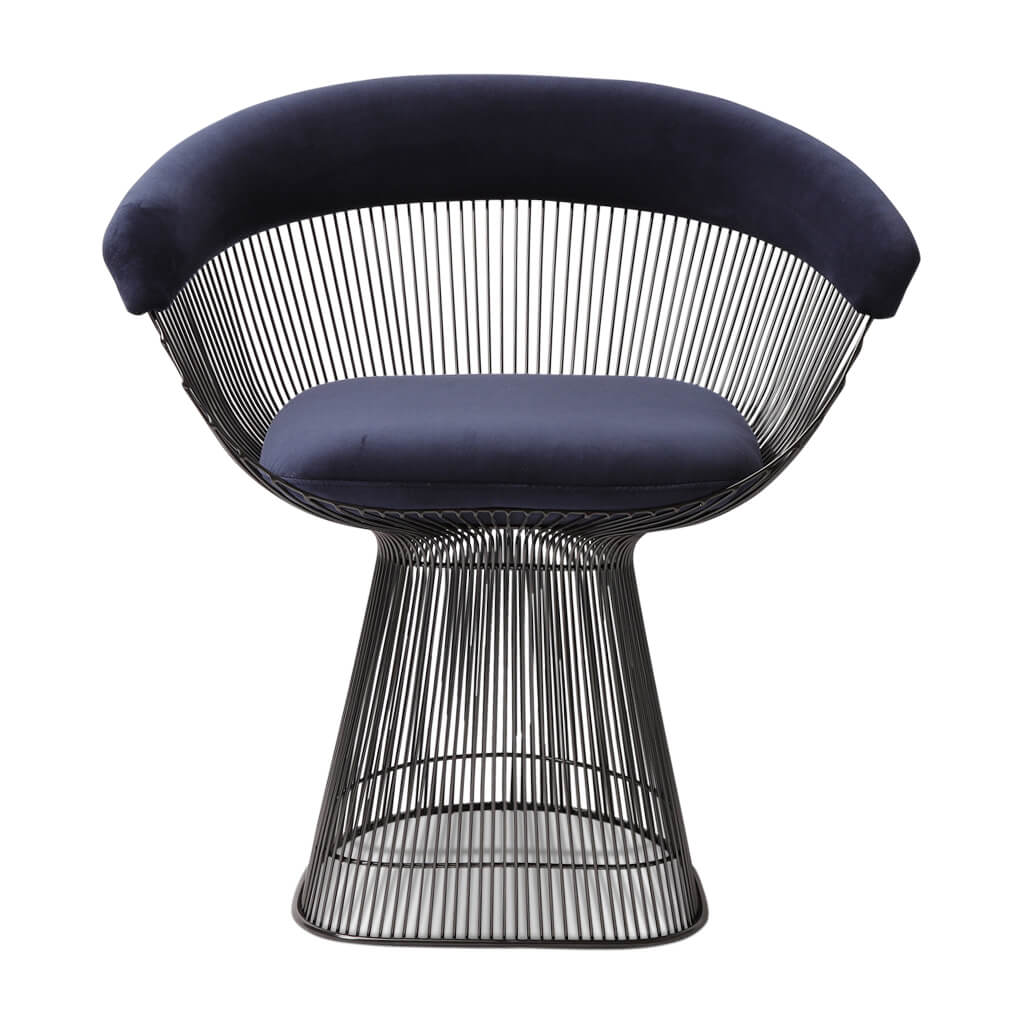 Warren Platner Armchair - Gun Metal Black Base - EternityModern