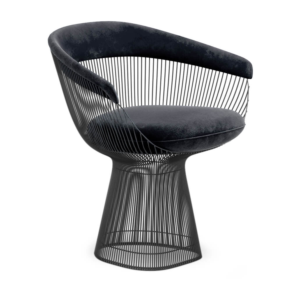Armchair Metal Black Jet Black