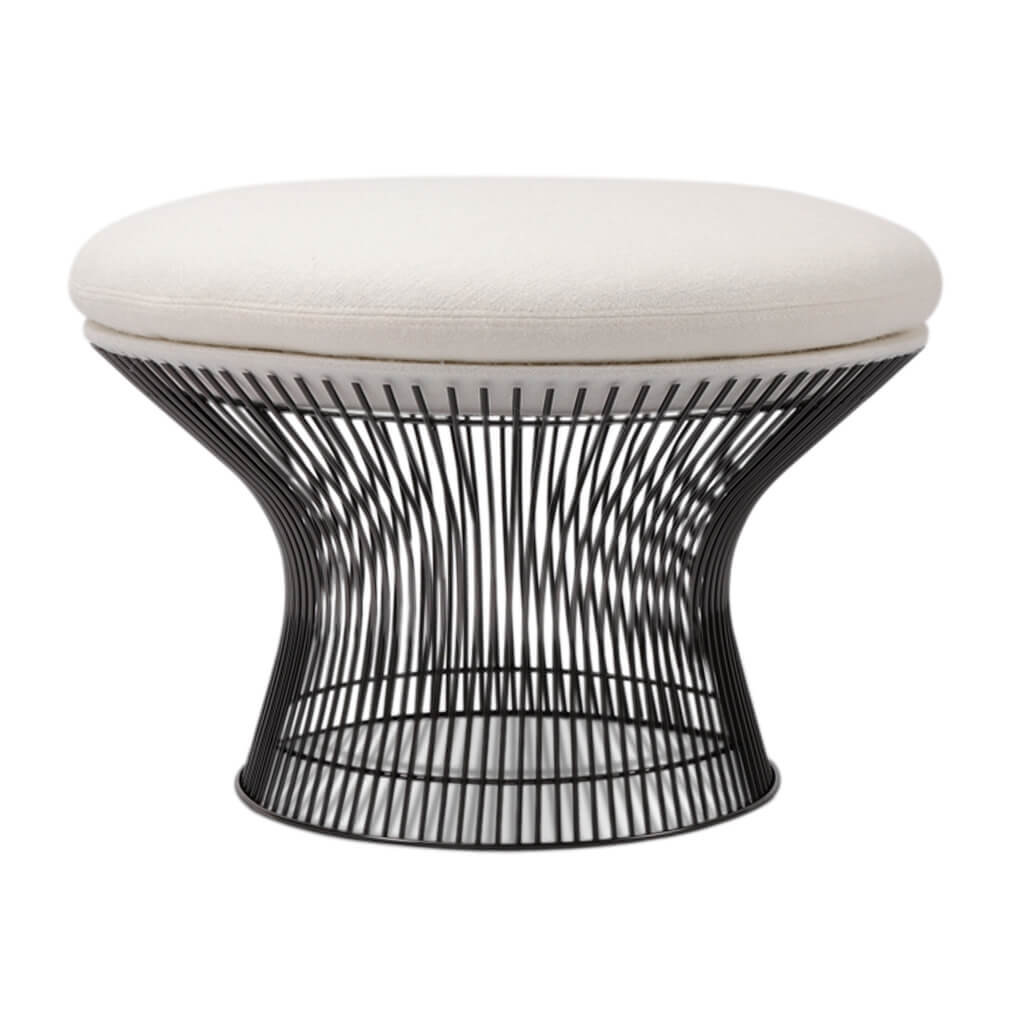 Warren Platner Easy Ottoman - Chrome Base