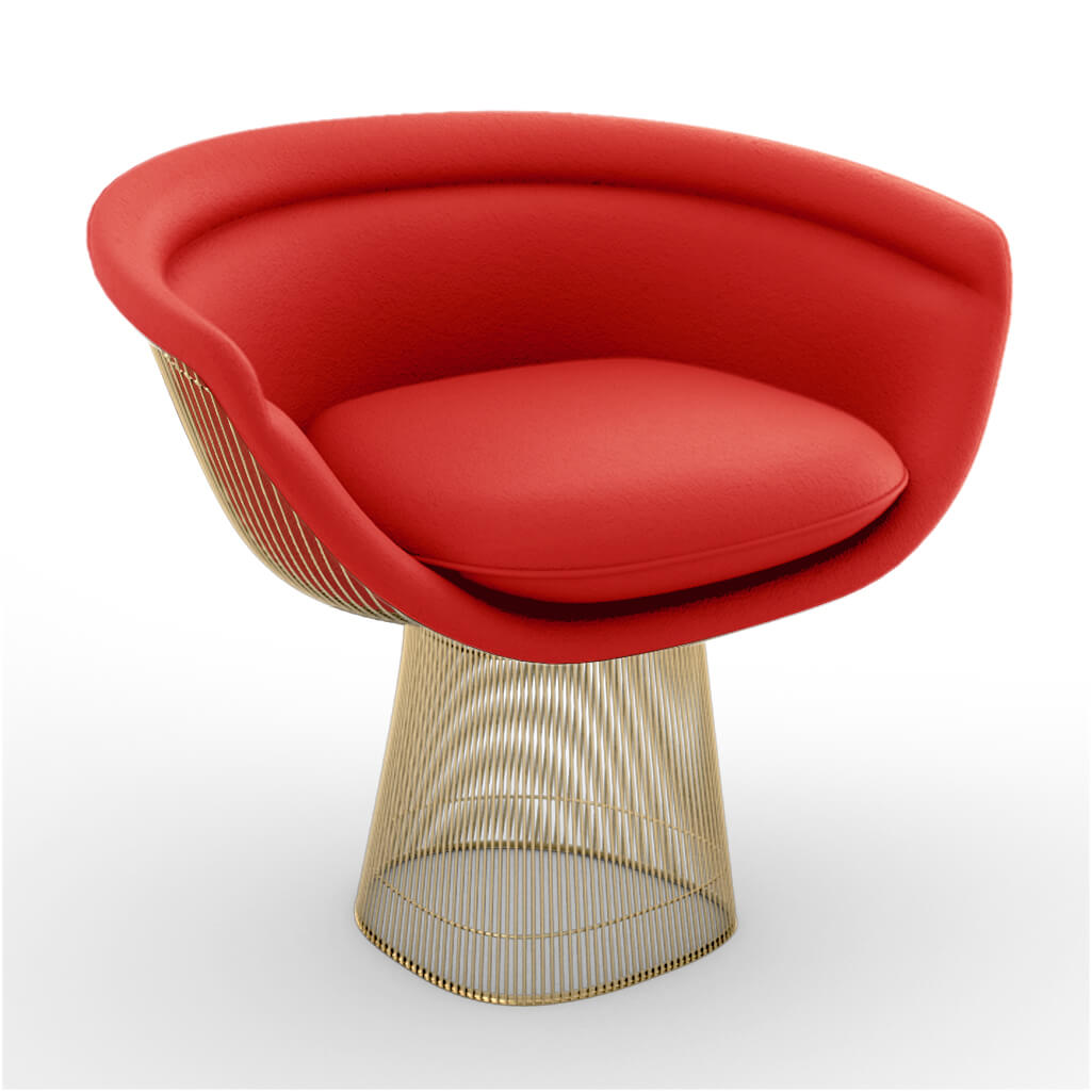 Lounge Chair Gold Red foto