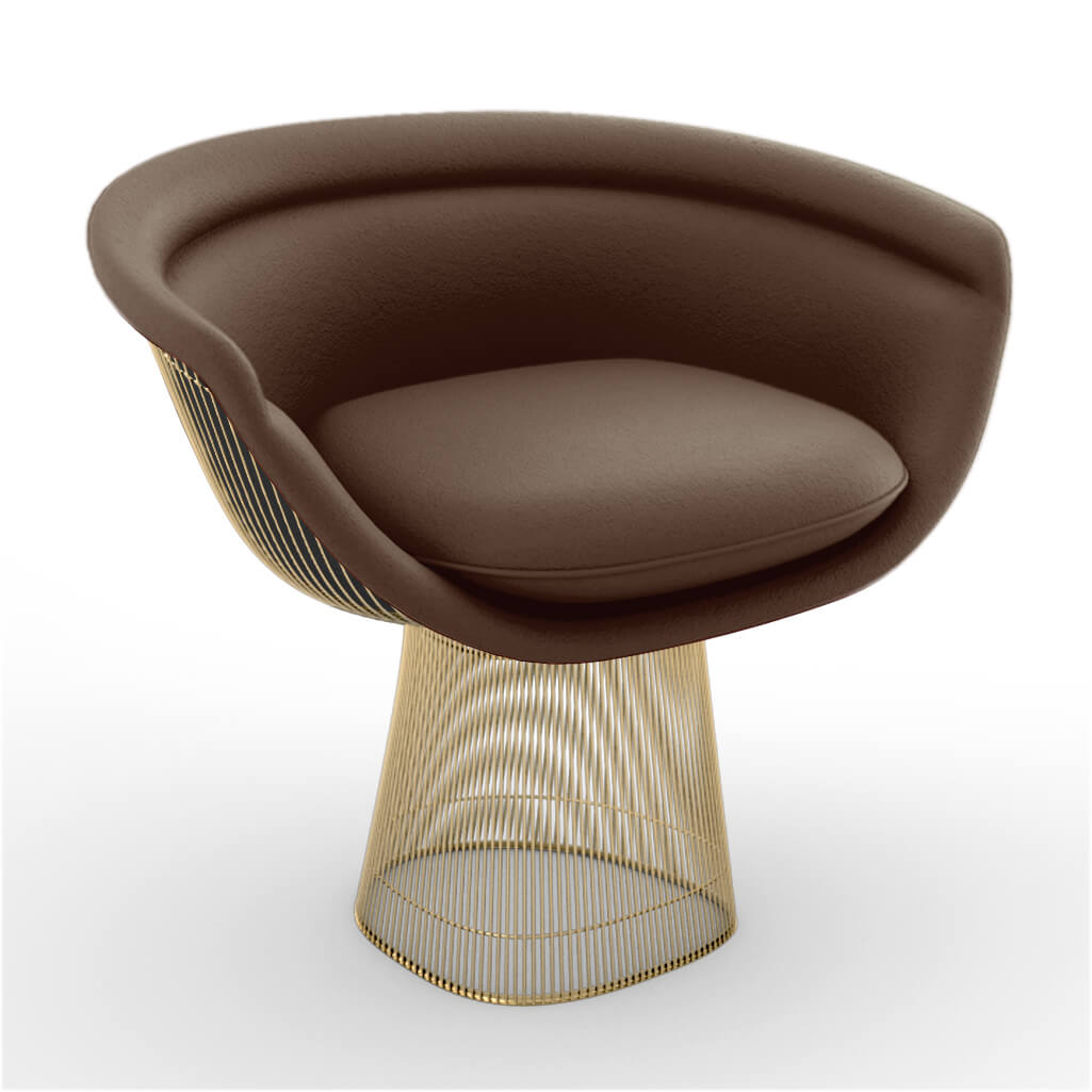 Lounge Chair Gold Brown foto