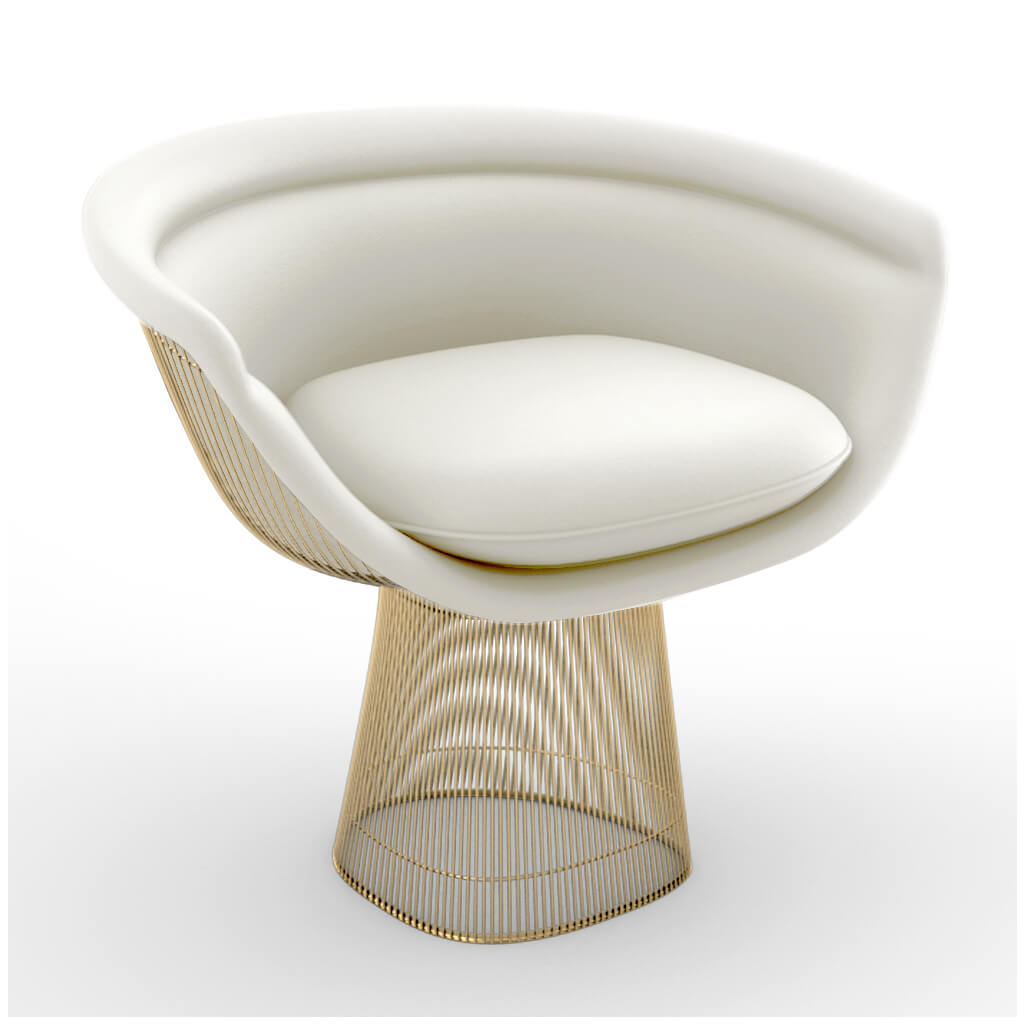 Lounge Chair Gold White foto