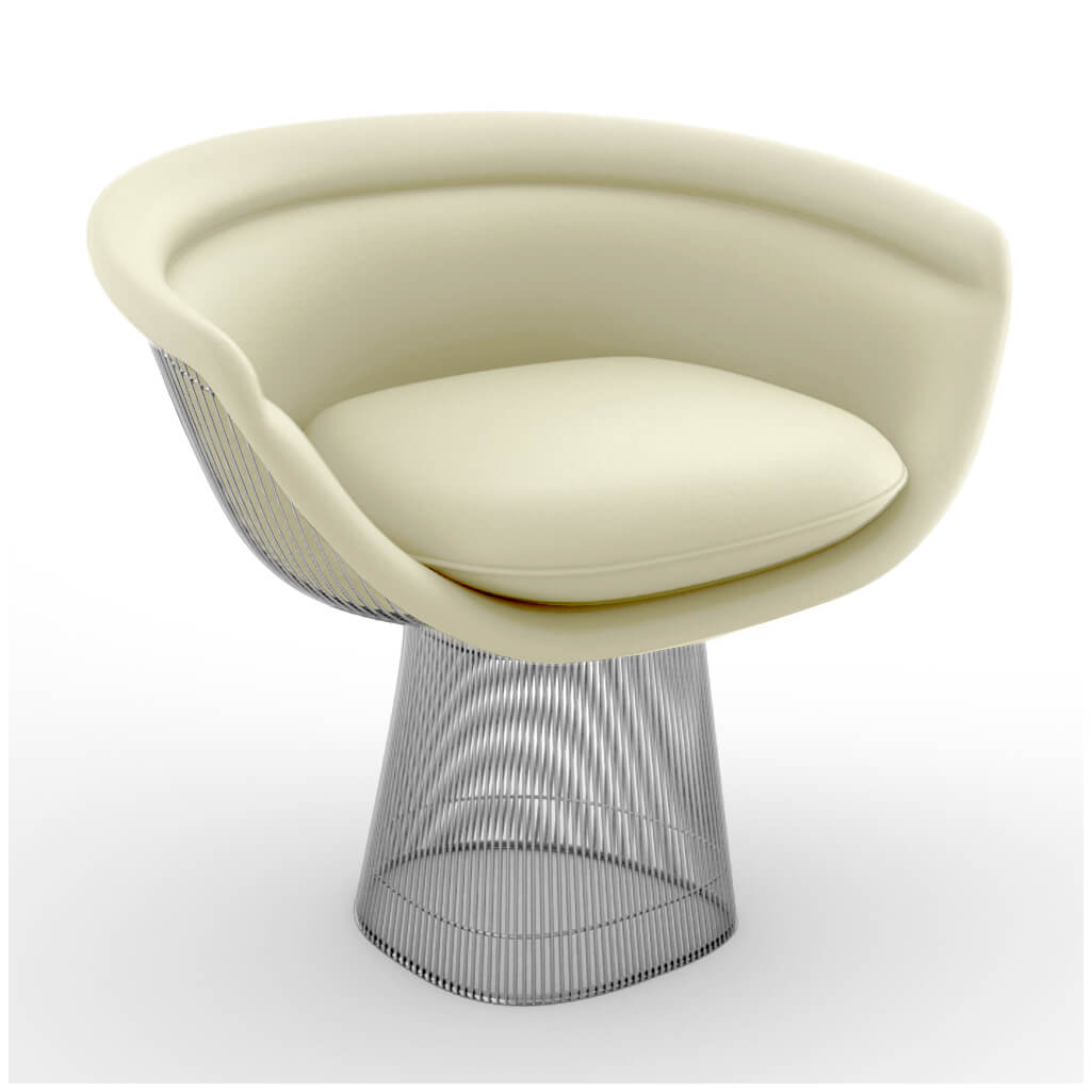 Lounge Chair Chrome Cream