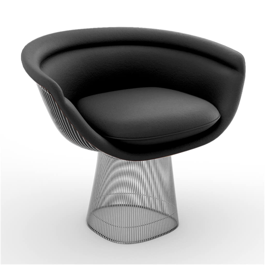 Lounge Chair Chrome Black