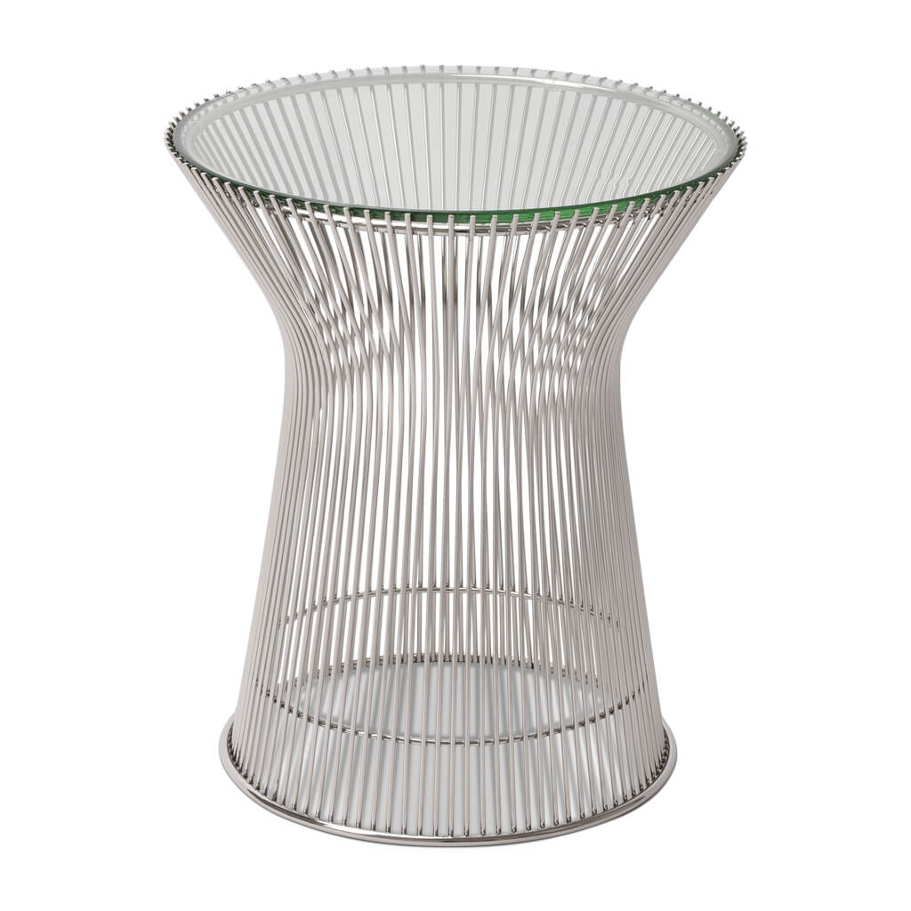 Warren Platner Side Table - Glass Top
