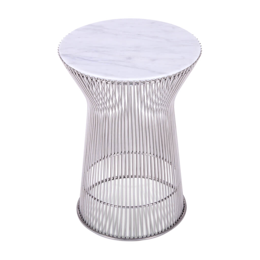 Warren Platner Side Table - Marble Top - EternityModern