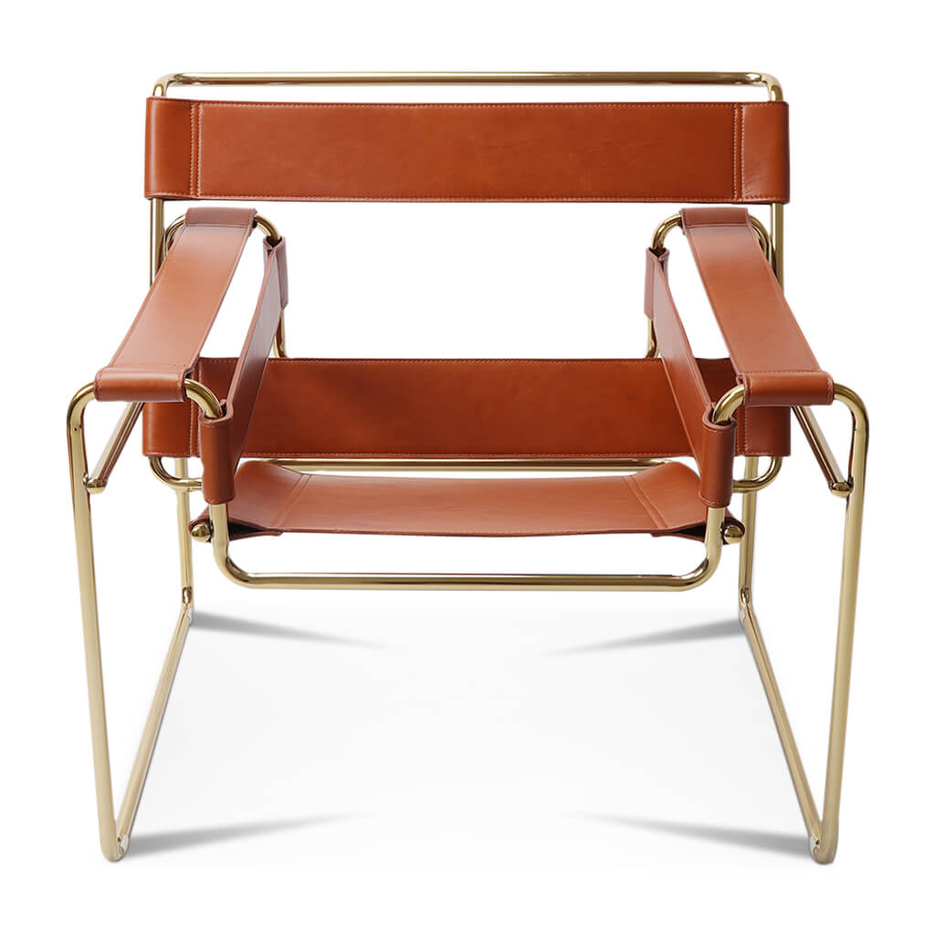 Marcel Breuer Wassily Chair - Gold Frame - Customizable