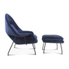 Womb Chair & Ottoman - Black Powder-Coated Steel - EternityModern