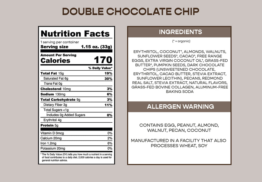 K.O. Krunch Granola - Double Chocolate Chip Packs