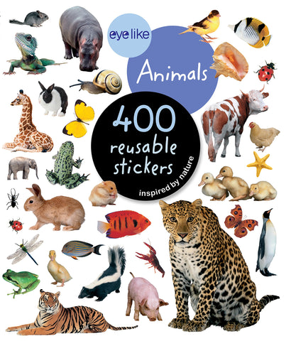 "CUENTO ""400 REUSABLE STICKERS ANIMALS"""