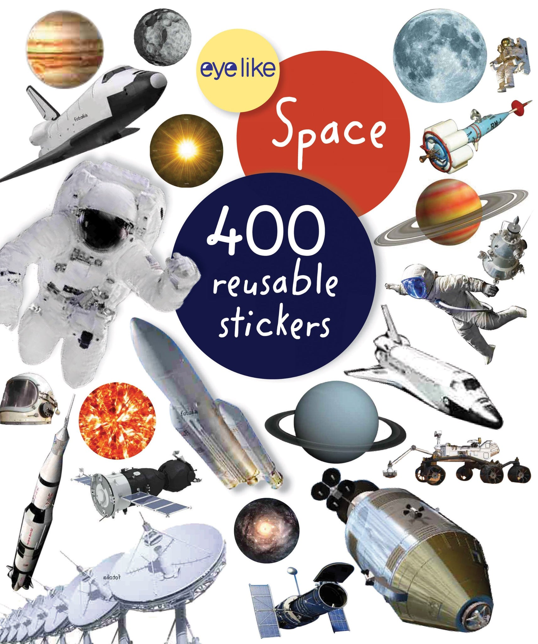 "CUENTO ""400 REUSABLE STICKERS SPACE"""