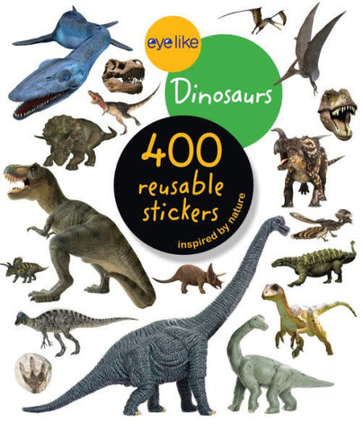 "CUENTO ""400 REUSABLE STICKERS DINOSAURS"""