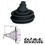 Small Rigging Grommet, Black, Push In Type, Witches Hat,