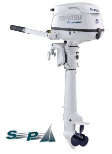 Tohatsu 5HP Sailpro LPG Outboard