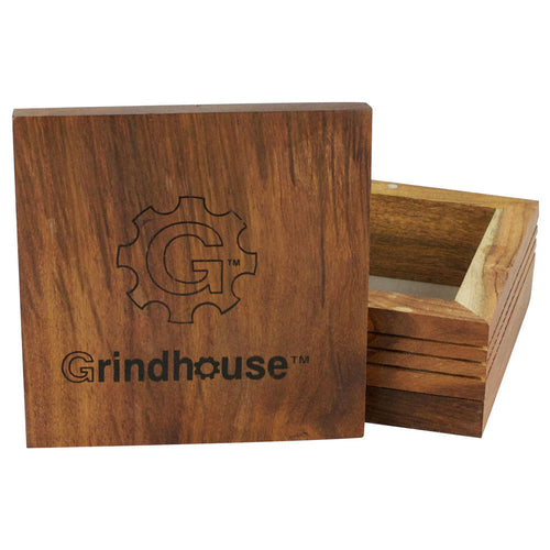 Grindhouse Wood Pollen Box w/ Magnetic Lid - 5
