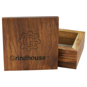 "Grindhouse Wood Pollen Box w/ Magnetic Lid - 5""x5""x2.25"""