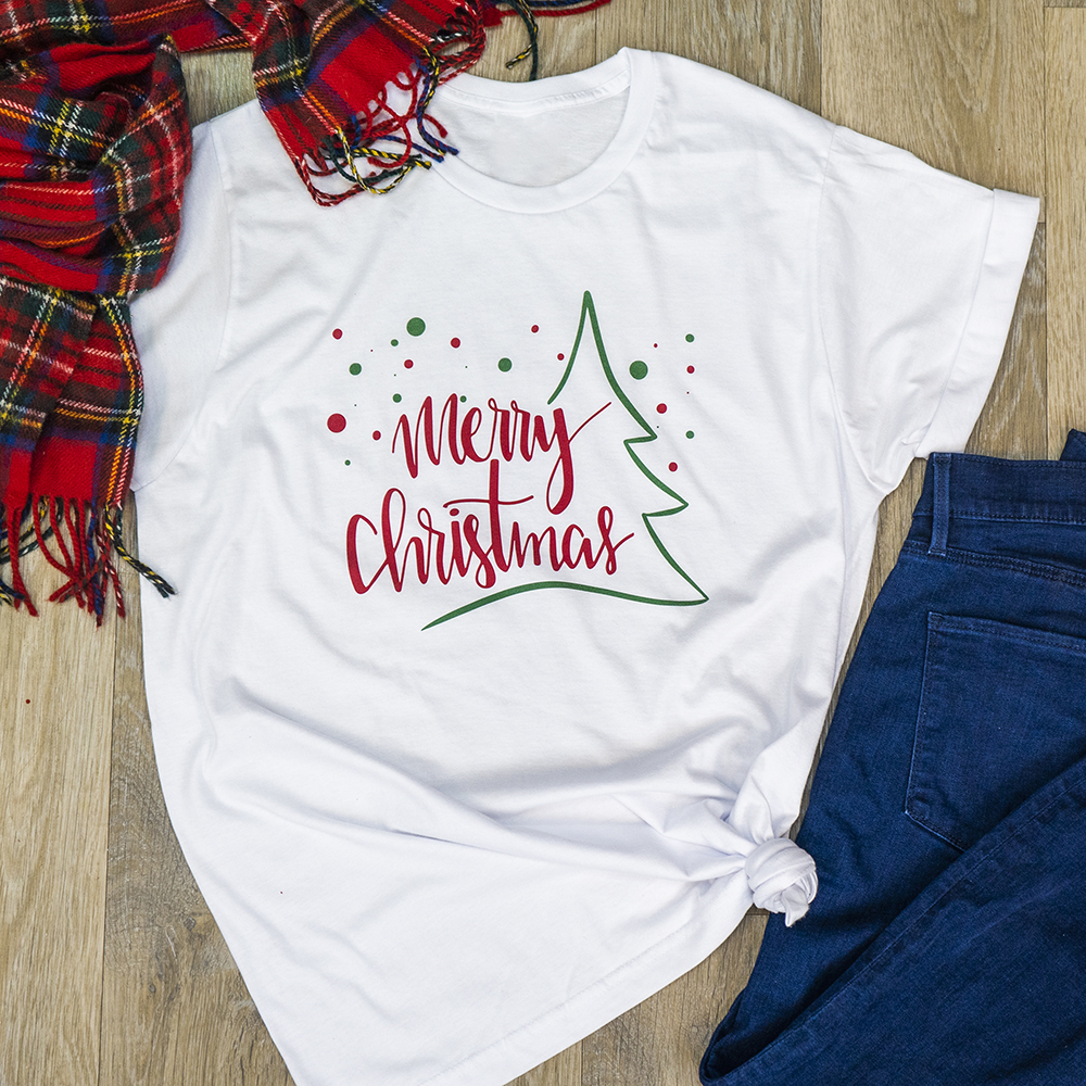 Merry Christmas USA Tee - White