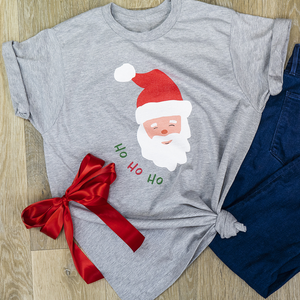 Santa Claus USA Tee - Heather Grey