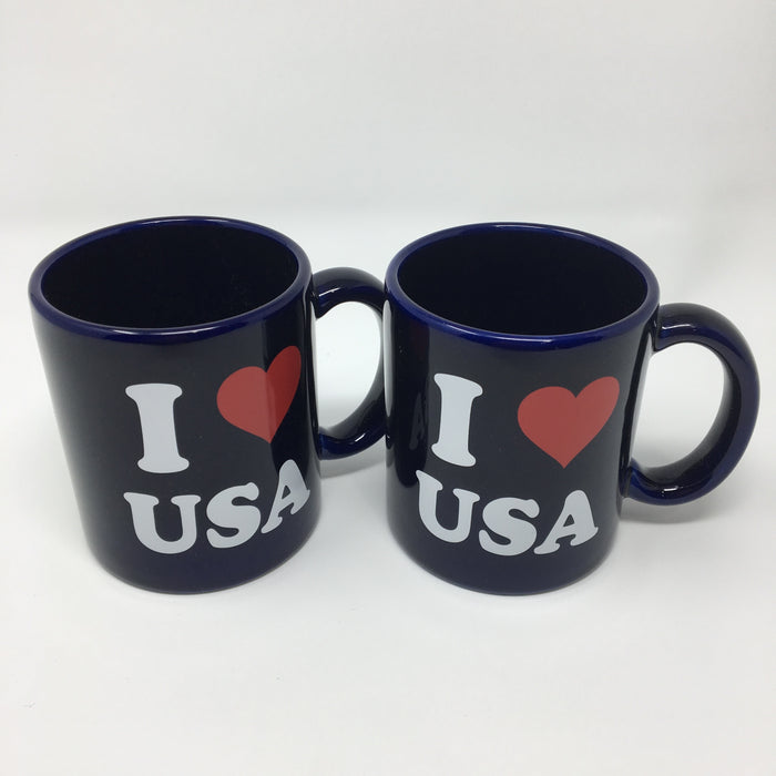 I Heart USA Mugs (set of 2)