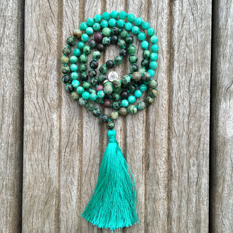 veritable collier mala authentique fait main artisanal