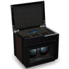 TPR Double Watch Winder Macassar for Automatic Watches with Three Watch Storage LED