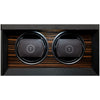 TPR Double Watch Winder Macassar for Automatic Watches with Three Watch Storage with LED
