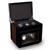 TPR Double Watch Winder Macassar for Automatic Watches with Three Watch Storage