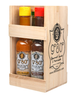 9º80º Signature 4-Pack Gift Set - 980 Gourmet Sauces and Marinades