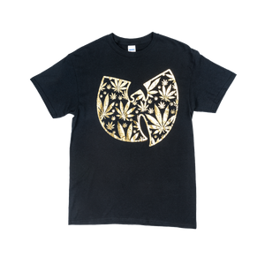POT LEAF GOLD WU TANG LOGO T SHIRT - Wu Tang Clan
