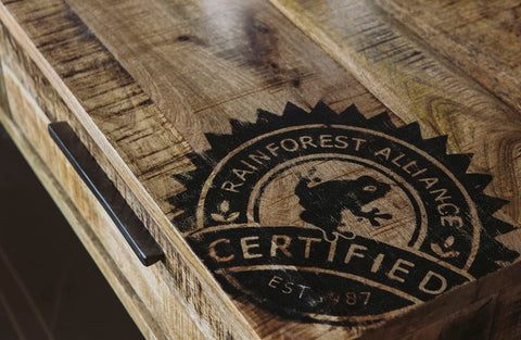 Rainforest Alliance Certified wood furniture