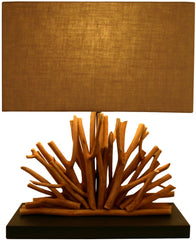Wood Fan Lamp