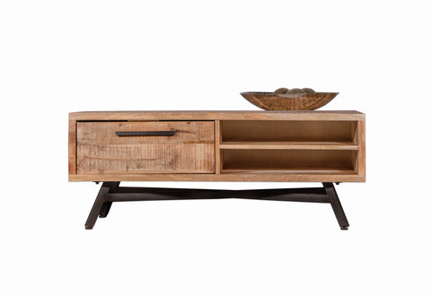 Mango Wood Retro TV Stand by Casa Suarez