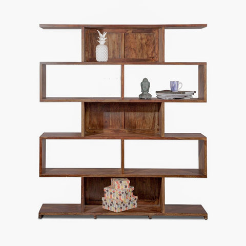 Open Cubic Bookcase Minimalist Storage