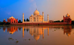 Sunset at Taj Mahal - Wall Art by Casa Suarez