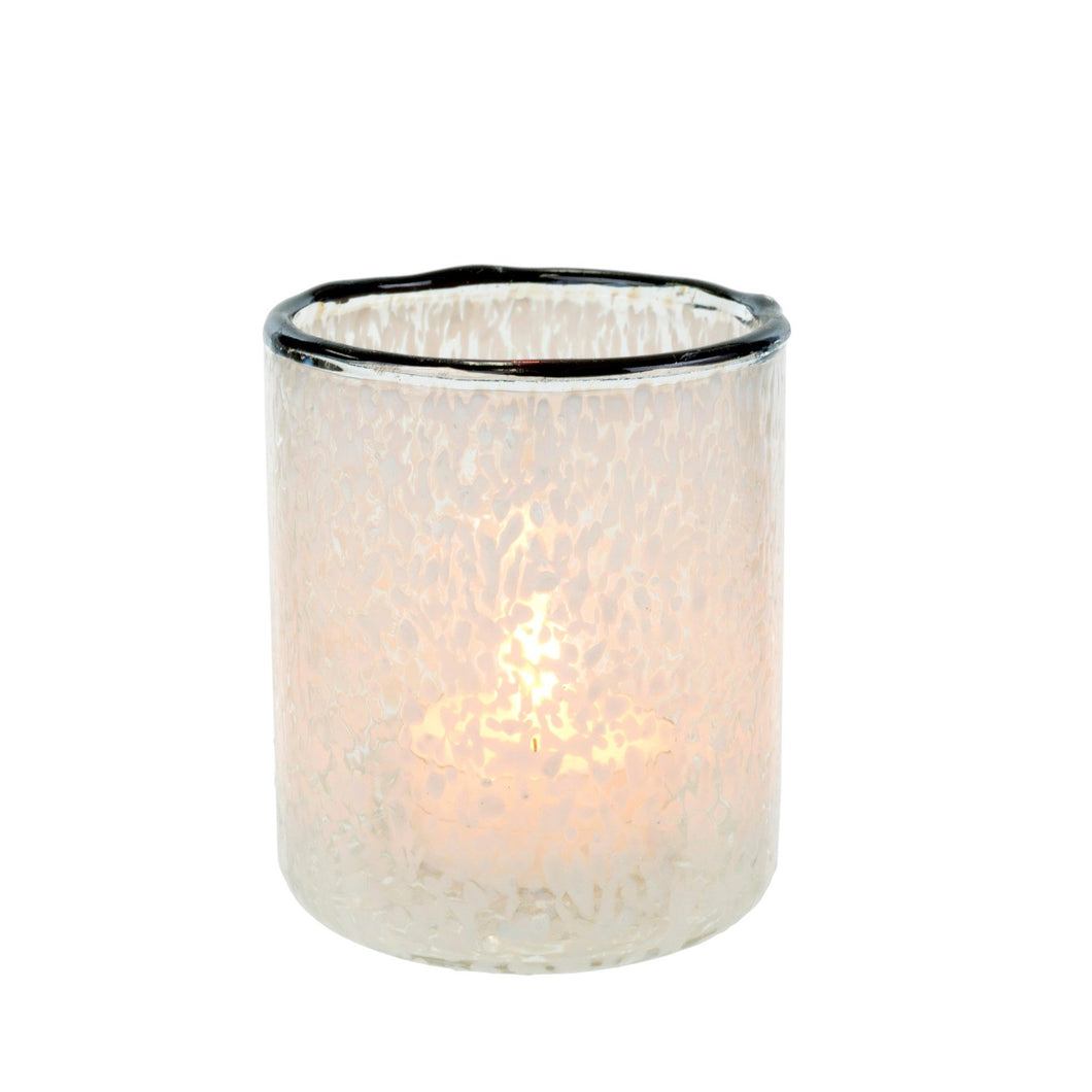Cheena Votive, White - Casa Suarez