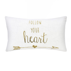 Follow Your Heart Cushion - Casa Suarez