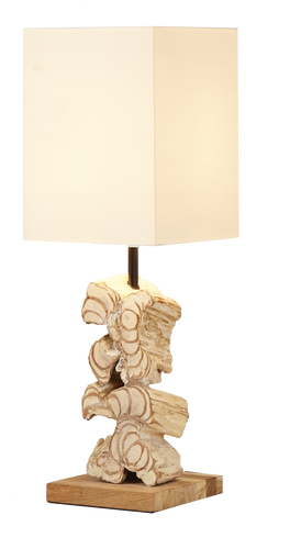 Stacked Wood Free Table Lamp - casa-suarez-panama