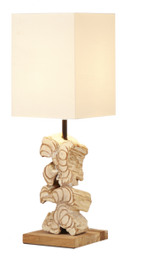 Stacked Wood Free Table Lamp - Casa Suarez
