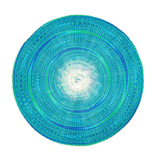Turquoise Round Placemat
