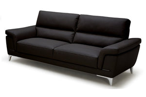 Stuart 3 seater Sofa faux leather black - casa-suarez-panama