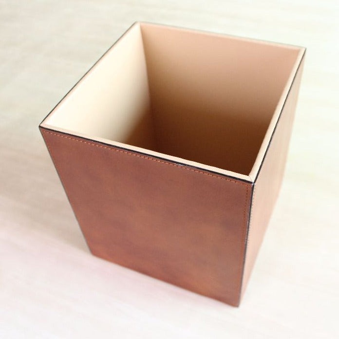 Realista Leather Storage Bin - casa-suarez-panama