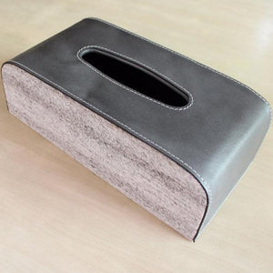 Round Edges Leather Tissue Box - By Casa Suarez - Casa Suarez