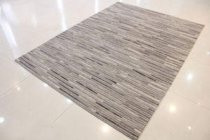 Metric Grey Striped Carpet - By Casa Suarez - Casa Suarez