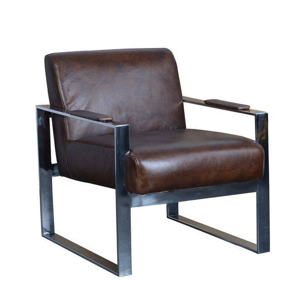 Asiento de Cuero Leather Chair - Casa Suarez