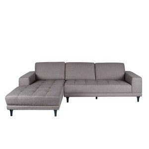 Toronto Fabric Soft Taupe Sectional Couch - Casa Suarez